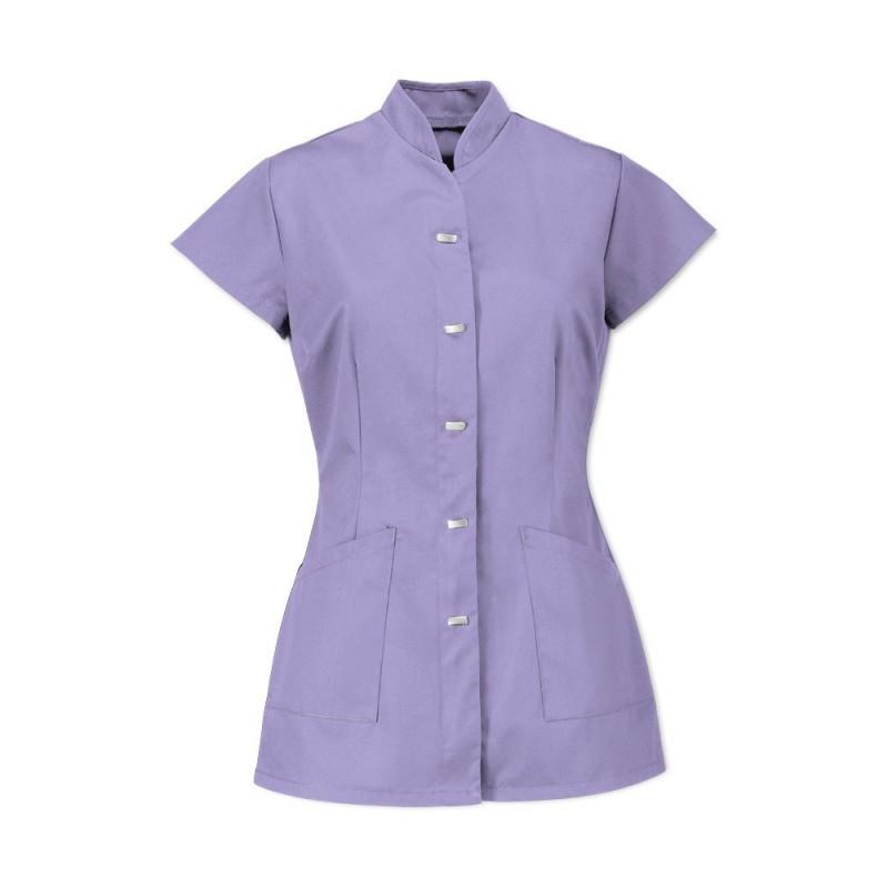 Women's Mock Fastening Tunic (Lilac) - NF969
