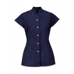 Women's Mock Fastening Tunic (Navy) - NF969