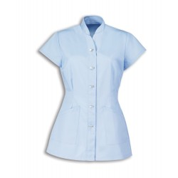 Women's Mock Fastening Tunic (Pale Blue) - NF969