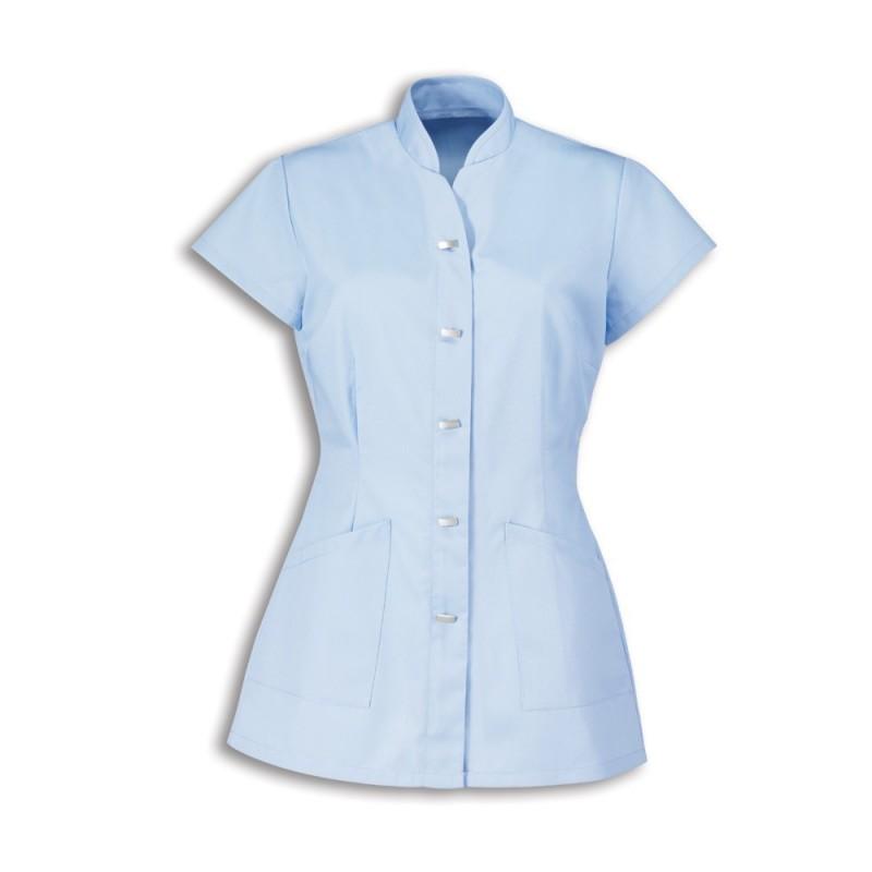 Women's Mock Fastening Tunic (Pale Blue) - NF969