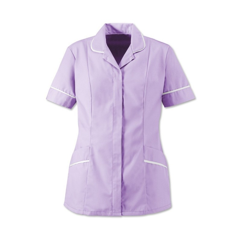 Women's Soft-Brushed Tunic (Lilac With White Trim) - D309