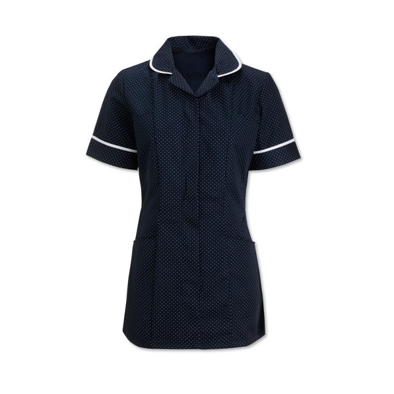 Women's Spot Tunic (Navy Blue & White With White Trim) HF719