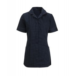 Women's Spot Tunic (Navy Blue & White with Navy Trim) - HF719