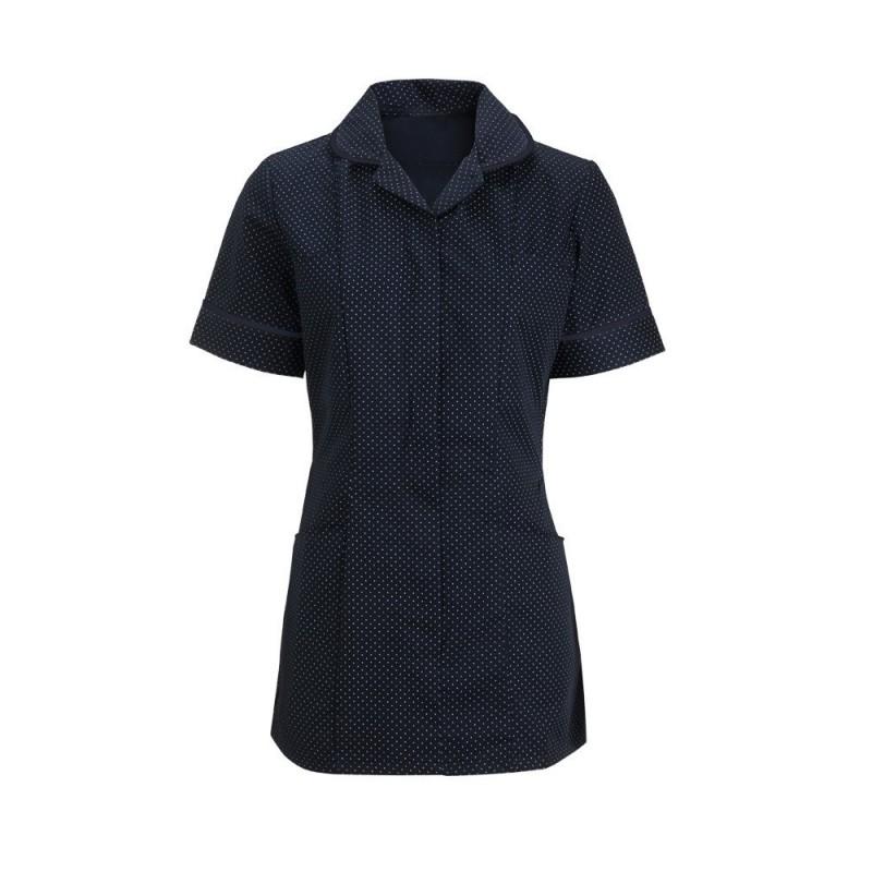 Women's Spot Tunic (Navy Blue & White With Navy Trim) HF719