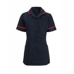 Women's Spot Tunic (Navy Blue & White with Red Trim) - HF719