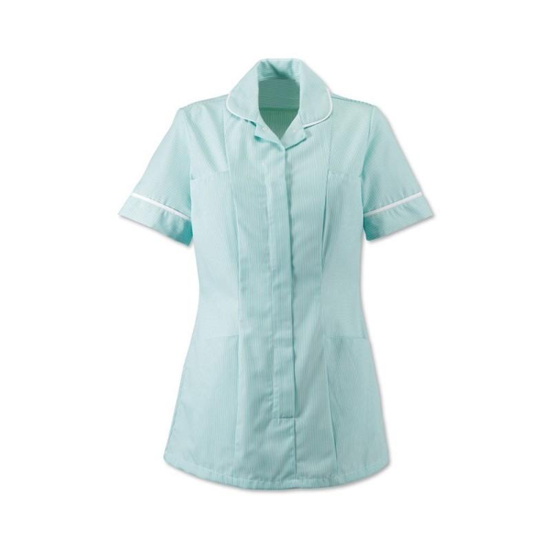 Women's Stripe Tunic (Aqua With White Trim) ST298