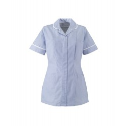 Women's Stripe Healthcare Tunic (Blue with White Trim) - ST298