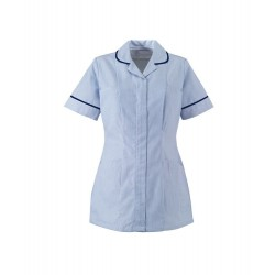 Women's Stripe Healthcare Tunic (Blue with Navy Trim) - ST298