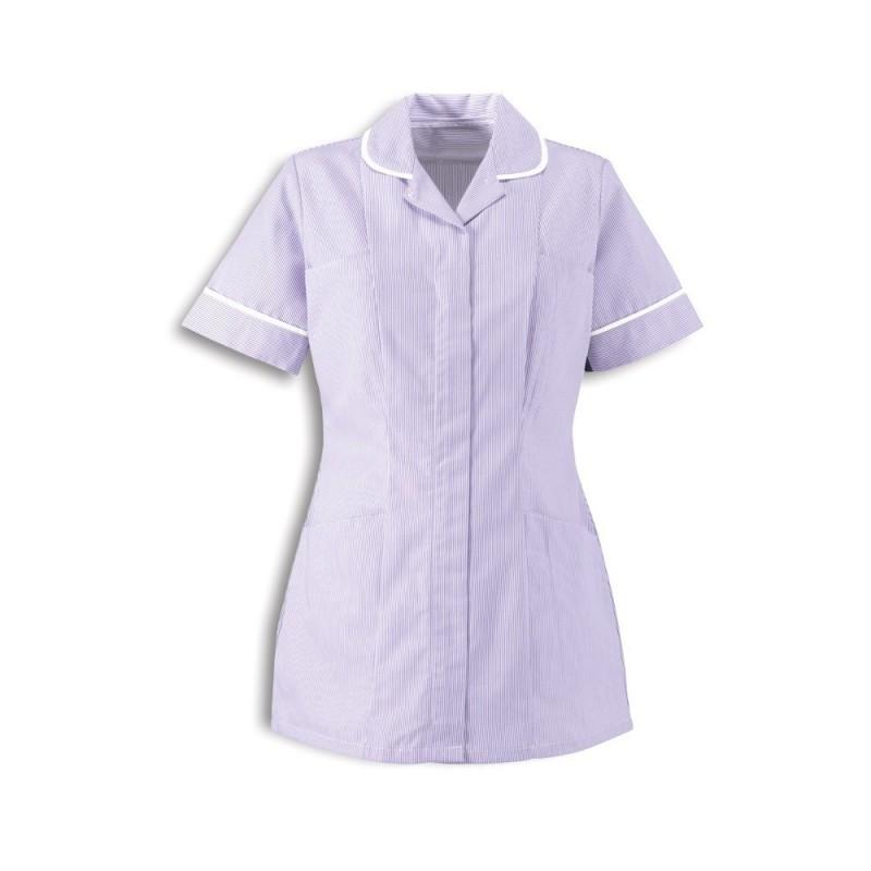 Women's Stripe Tunic (Lilac With White Trim) ST298