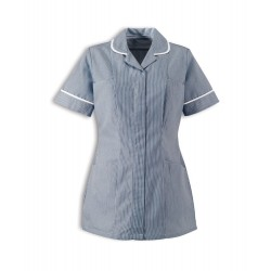Women's Stripe Healthcare Tunic (Navy with White Trim) - ST298