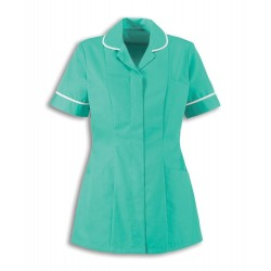 Women's Healthcare Tunic (Aqua Marine with White Trim) - HP298