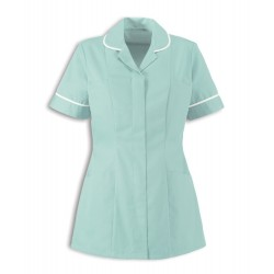 Women's Healthcare Tunic (Aqua with White Trim) - HP298