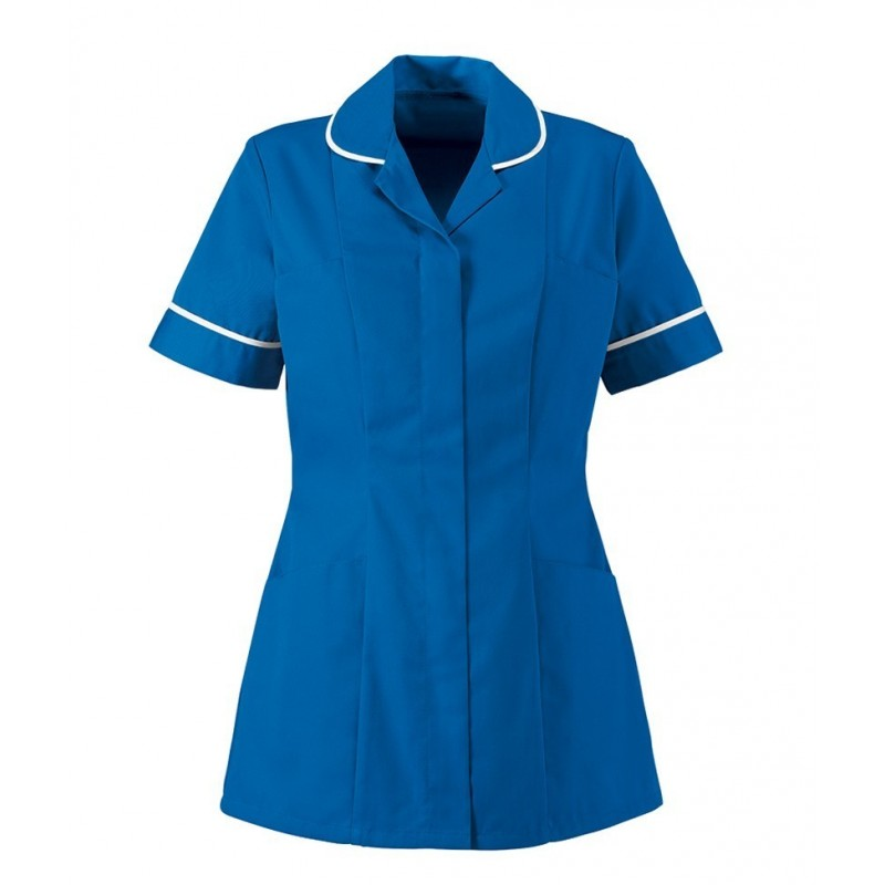 Women's Healthcare Tunic (Blade Blue With White Trim) - HP298