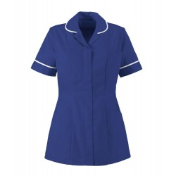 Women's Healthcare Tunic (Bright Royal with White Trim) - HP298