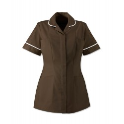 Women's Healthcare Tunic (Brown with White Trim) - HP298