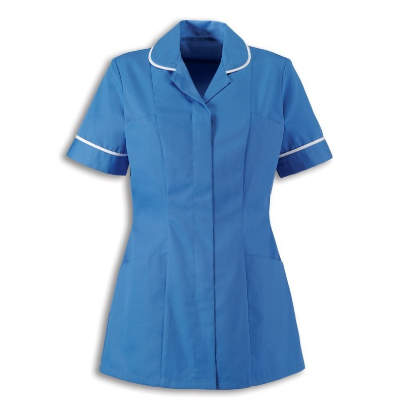 Women's Healthcare Tunic (Hospital Blue With White Trim) - HP298