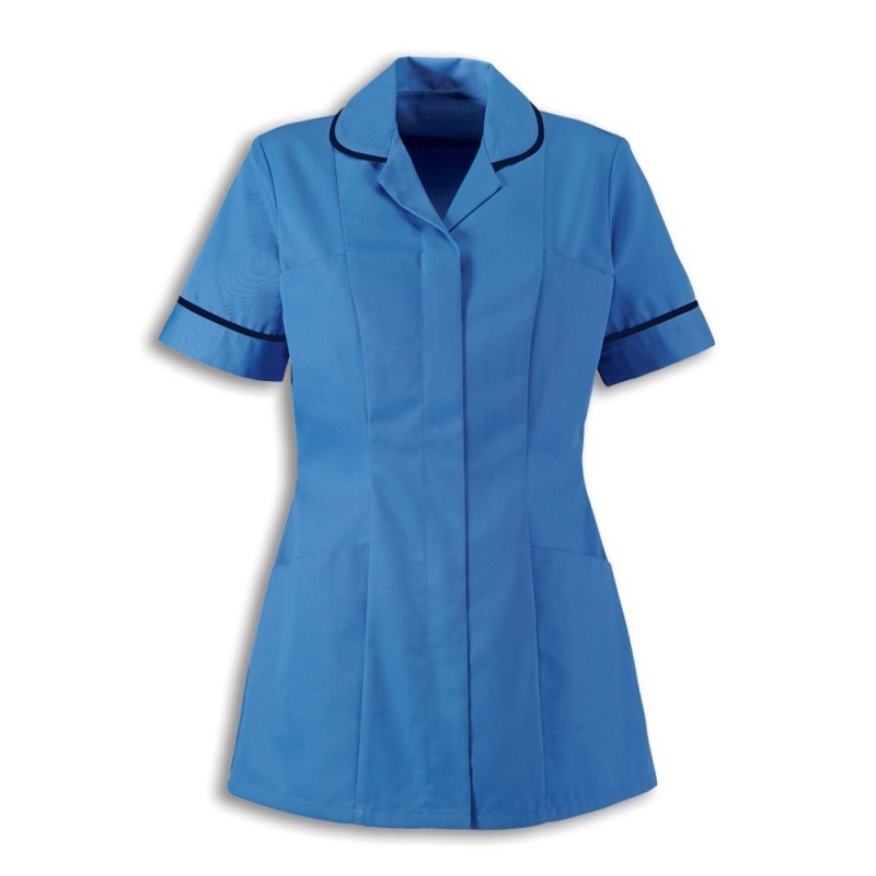 Women's Healthcare Tunic (Hospital Blue With Navy Trim) - HP298