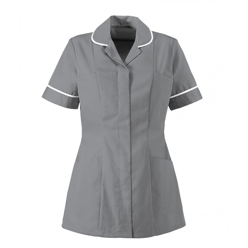 Women's Healthcare Tunic (Hospital Grey With White Trim) - HP298