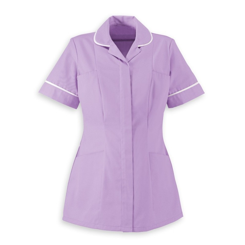 Women's Healthcare Tunic (Lavender With White Trim) - HP298
