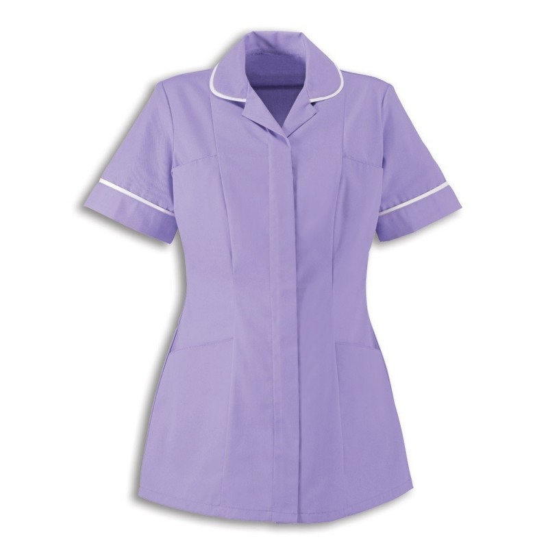 Women's Healthcare Tunic (Lilac With White Trim) - HP298