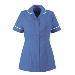 Women's Healthcare Tunic (Metro Blue with White Trim) - HP298