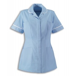 Women's Healthcare Tunic (Pale Blue with White Trim) - HP298