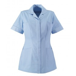 Women's Healthcare Tunic (Pale Blue with Pale Blue Trim) - HP298