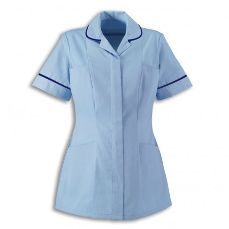 Women's Tunic (Pale Blue With Navy Trim) - HP298