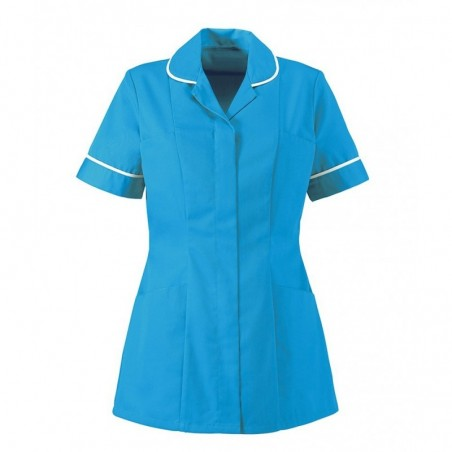 Women's Healthcare Tunic (Peacock With White Trim) - HP298