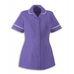 Women's Healthcare Tunic (Purple with White Trim) - HP298