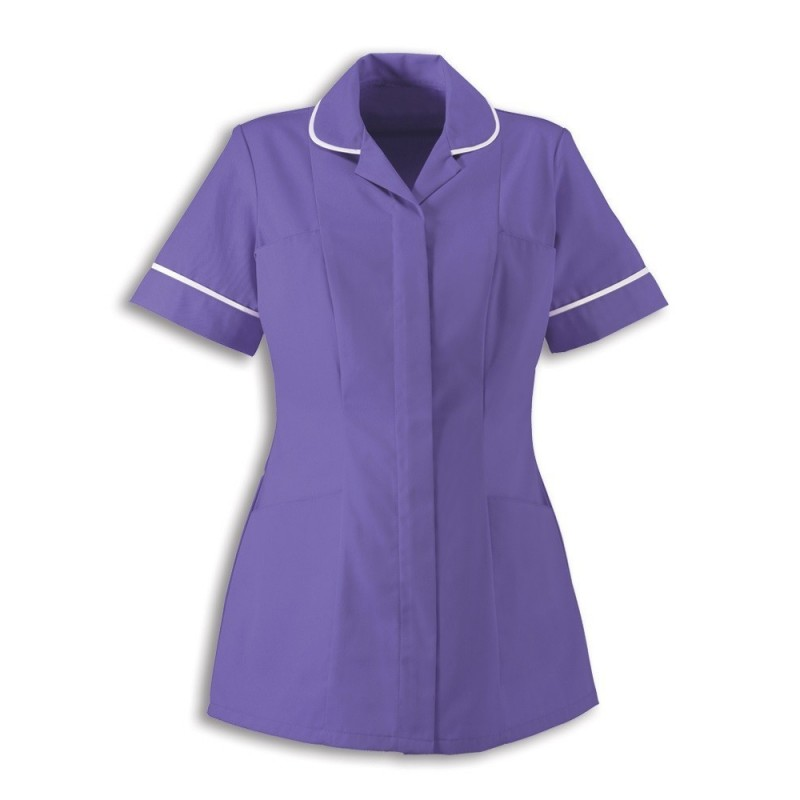 Women's Healthcare Tunic (Purple With White Trim) - HP298