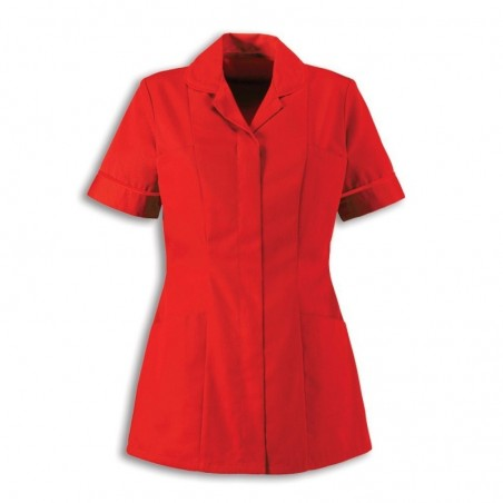 Women's Healthcare Tunic (Red With Red Trim) - HP298