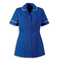 Women's Healthcare Tunic (Royal Box with White Trim) - HP298