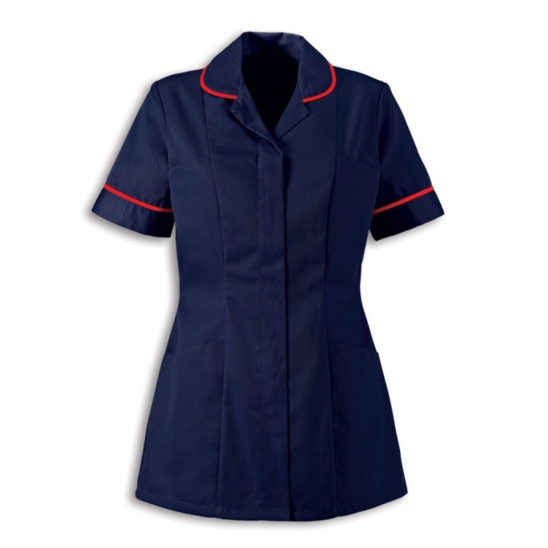 Women's Healthcare Tunic (Sailor Navy With Red Trim) - HP298