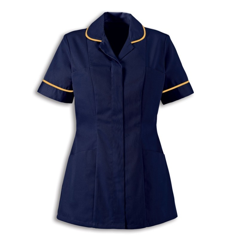 Women's Healthcare Tunic (Sailor Navy With Yellow Trim) - HP298