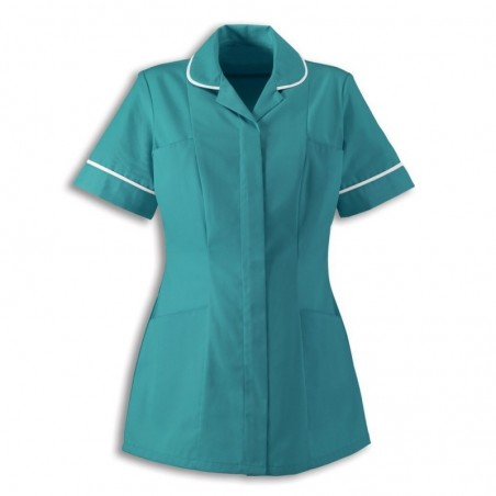 Women's Healthcare Tunic (Turquoise With White Trim) - HP298