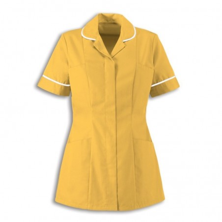 Women's Healthcare Tunic (Yellow With White Trim) - HP298