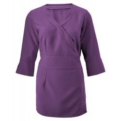 Women's 3/4 Sleeve Wrap Tunic (Amethyst) - NF83