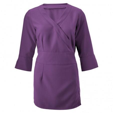 Women's 3/4 Sleeve Wrap Tunic NF83