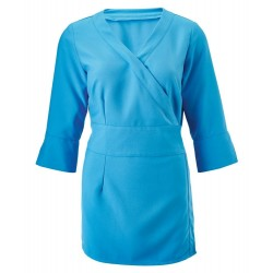 Women's 3/4 Sleeve Wrap Tunic (Peacock) - NF83
