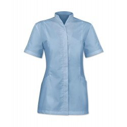 Women's Concealed Button Tunic (Pale Blue) - 2251