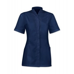 Women's Concealed Button Tunic (Navy) - 2251