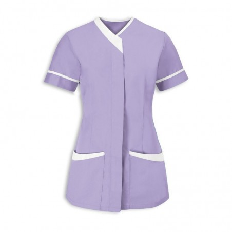 Women's Contrast Trim Tunic (Lilac With White Trim) - NF54