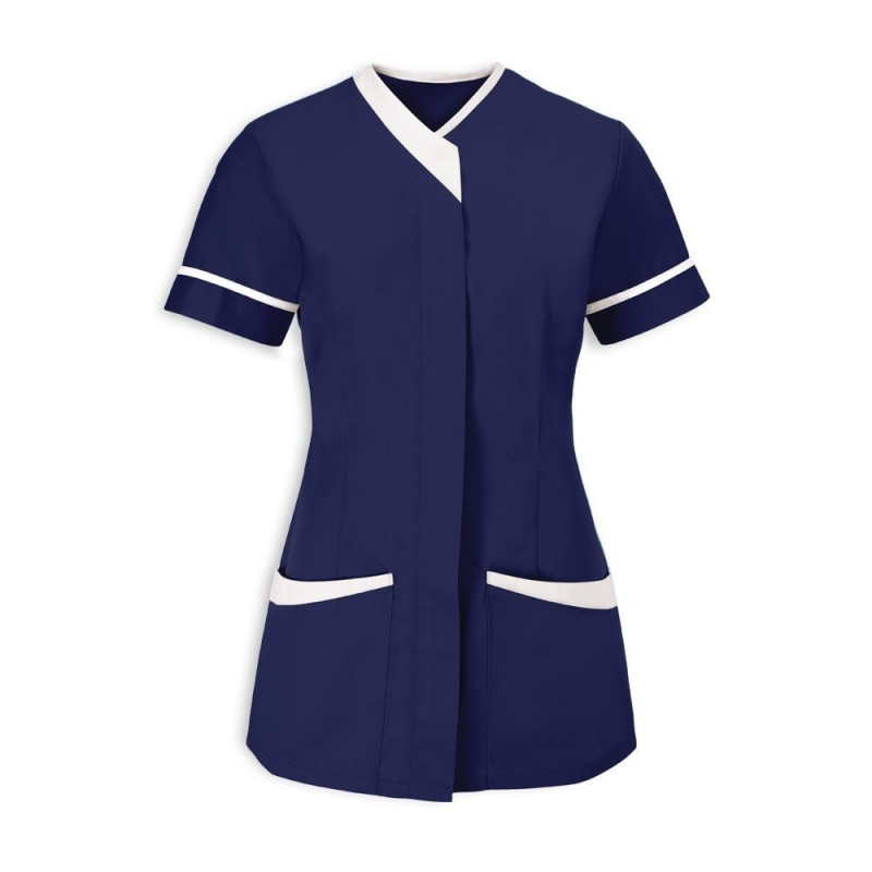 Women's Contrast Trim Tunic (Sailor Navy With White Trim) - NF54