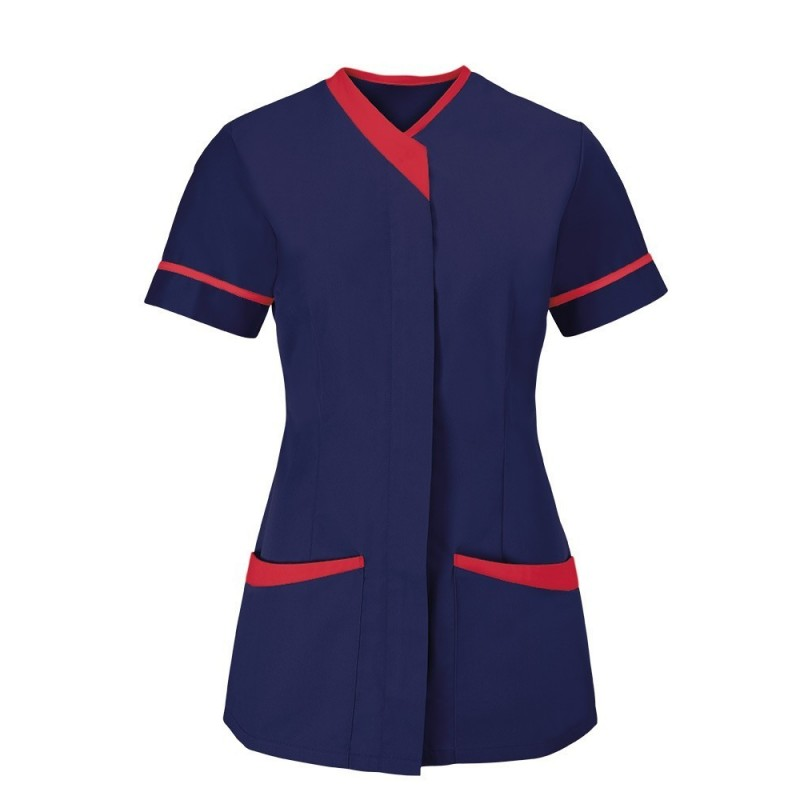 Women's Contrast Trim Tunic (Sailor Navy With Red Trim) - NF54