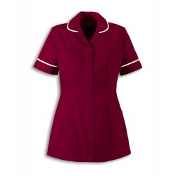 Women's Lightweight Tunic (Burgundy with Cream Trim) - NF48