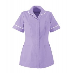 Women's Lightweight Tunic (Lilac with White Trim) - NF48