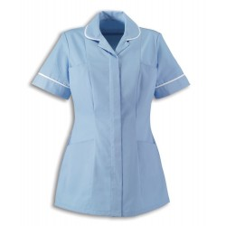 Women's Lightweight Tunic (Pale Blue with White Trim) - NF48
