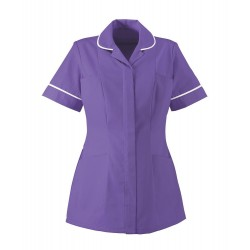 Women's Lightweight Tunic (Purple with White Trim) - NF48