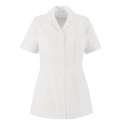 Women's Lightweight Tunic (White with White Trim) - NF48